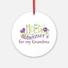 Hope For Alzheimers Grandma Ornament (Round)