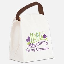 Hope For Alzheimers Grandma Canvas Lunch Bag