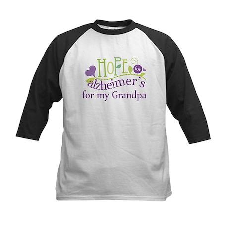 Hope For Alzheimers Grandpa Kids Baseball Jersey
