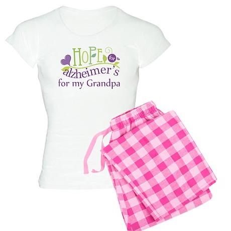 Hope For Alzheimers Grandpa Women's Light Pajamas