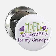 "Hope For Alzheimers Grandpa 2.25"" Button"