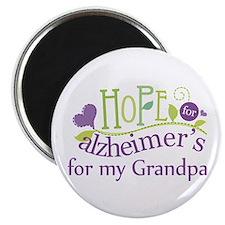 Hope For Alzheimers Grandpa Magnet