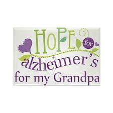 Hope For Alzheimers Grandpa Rectangle Magnet