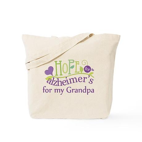Hope For Alzheimers Grandpa Tote Bag
