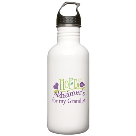 Hope For Alzheimers Grandpa Stainless Water Bottle