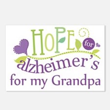 Hope For Alzheimers Grandpa Postcards (Package of