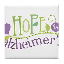 Hope For Alzheimer's Disease Tile Coaster