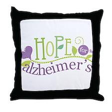 Hope For Alzheimer's Disease Throw Pillow