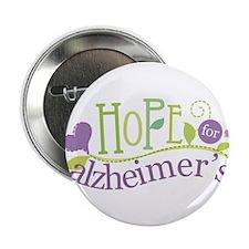 "Hope For Alzheimer's Disease 2.25"" Button"