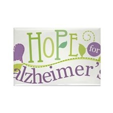 Hope For Alzheimer's Disease Rectangle Magnet