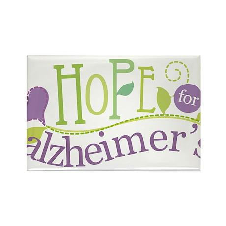 Hope For Alzheimer's Disease Rectangle Magnet