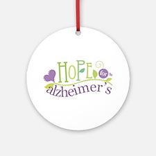 Hope For Alzheimer's Disease Ornament (Round)