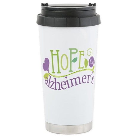 Hope For Alzheimer's Disease Stainless Steel Trave