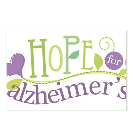 Hope For Alzheimer's Disease Postcards (Package of
