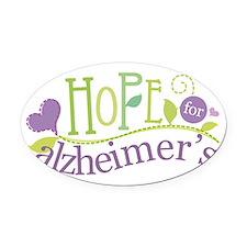Hope For Alzheimer's Disease Oval Car Magnet