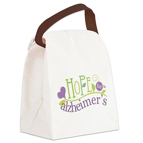 Hope For Alzheimer's Disease Canvas Lunch Bag