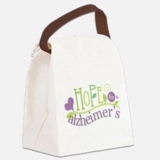 Hope For Alzheimer's Disease Canvas Lunch Bag