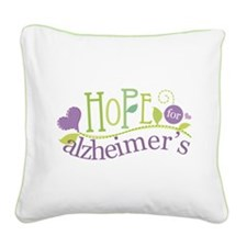 Hope For Alzheimer's Disease Square Canvas Pillow