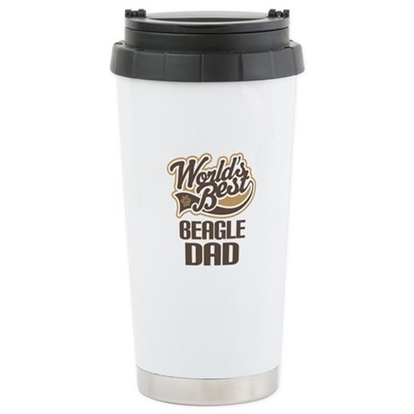 Beagle Dad Stainless Steel Travel Mug