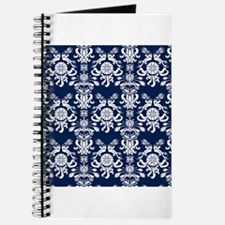 Navy Blue Damask Journal