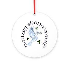 Gaelic Greetings Peace Dove Ornament (Round)