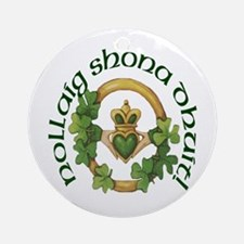 Gaelic Greetings Irish Claddagh Ornament (Round)