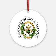 Gaelic Greetings Irish Claddagh Ornament (Round)