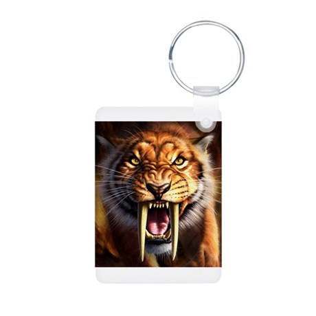 Sabertooth 1.png Aluminum Photo Keychain