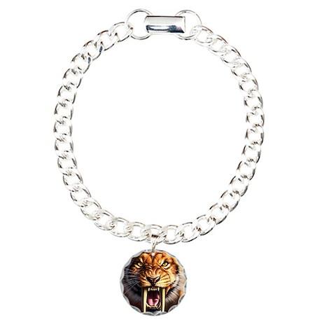 Sabertooth 1.png Charm Bracelet, One Charm
