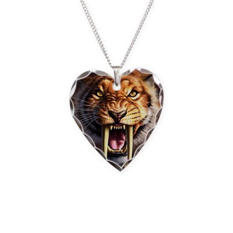 Sabertooth 1.png Necklace Heart Charm