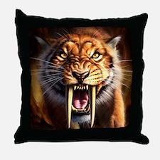 Sabertooth 1.png Throw Pillow