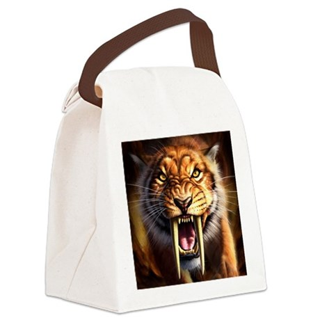 Sabertooth 1.png Canvas Lunch Bag