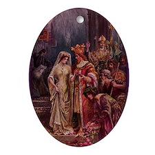 Wedding of Arthur & Guinevere Oval Ornament