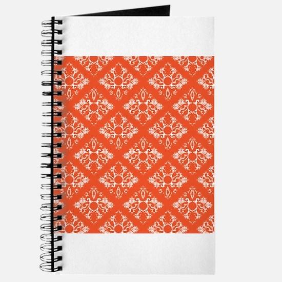 Orange Damask Journal