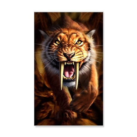 Sabertooth 3.png 35x21 Wall Decal