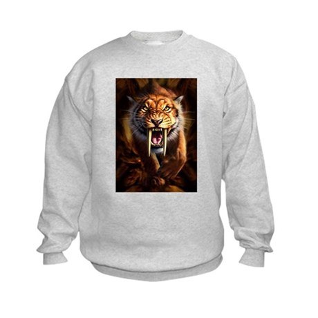 Sabertooth 3.png Kids Sweatshirt