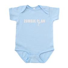 Zombie Plan Black Infant Bodysuit