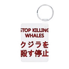 Stop Killing Whales Keychains