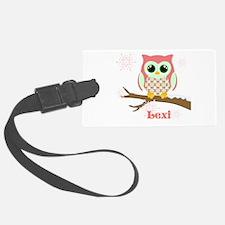 Custom name winter owl girl Luggage Tag