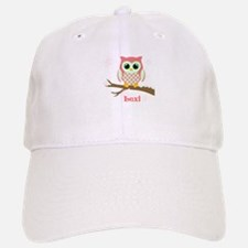 Custom name winter owl girl Baseball Baseball Cap
