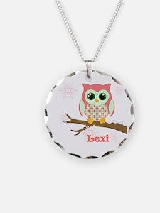 Custom name winter owl girl Necklace