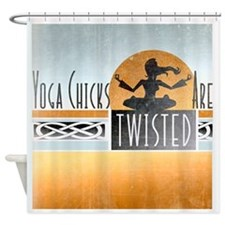 yoga chicks Shower Curtain