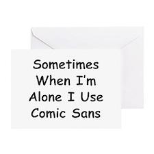 Some Comic Sans Greeting Card