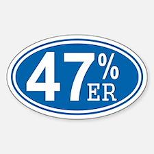 47 Percent-er Sticker (Oval)