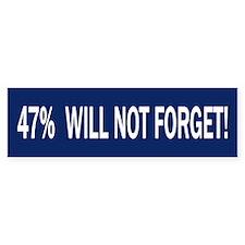 47 percent Bumper Sticker