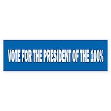 100 Percent Bumper Sticker