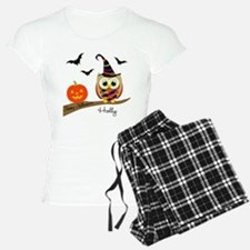 Custom name Halloween owl Pajamas
