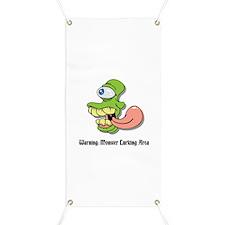 Monster Warning Banner