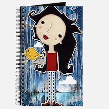 Girl with yellow bird Journal