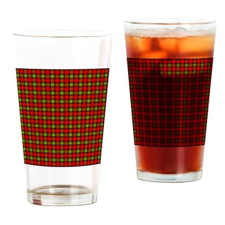 3-Tone Plaid Drinking Glass